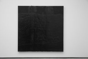 Theaster Gates Wood, roofing paper and tar 97 x 100 x 4 1/2 in. (246.4 x 254 x 11.4 cm)